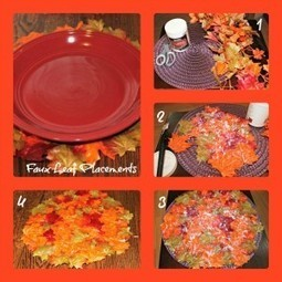 DIY Faux Leaf Bowl and Placemat | Living on the edge. | Scoop.it