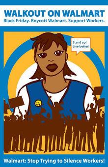Pink and Green Blues: Walkout on Walmart, Black Friday Boycott | Saving & Giving | DGTS Digital | Scoop.it