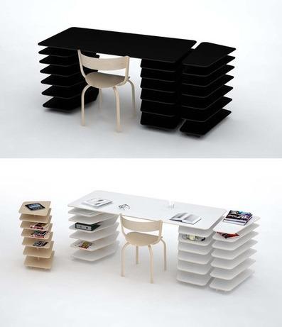 Instant Office: Snap-Together Custom Desk + Shelving Unit | Designs & Ideas on Dornob | Furniture Design | Scoop.it