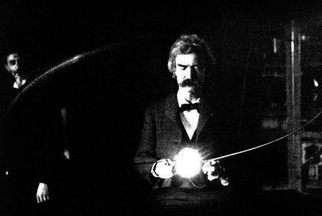 Chez Nikola Tesla, Mark Twain joue avec l'électricité   Merveilles - Marvels   Scoop.it