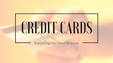 Credit Cards (Detailed): Things To Know Before Applying [INFOGRAPHIC] | Health & Digital Tech Magazine - 2017 | Scoop.it