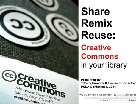 Share, Remix, Reuse: Creative Commons in Your Library | Ngoding | Journalism as a way to teaching critical thinking | Scoop.it