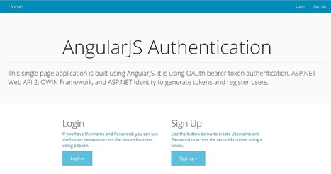 Token Based Authentication using ASP.NET Web API 2, Owin, and Identity | .Net & Web Development | Scoop.it