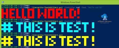 Powershell Trick: Convert text to ASCII art   v