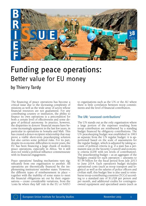 Funding peace operations: better value for EU money | Conflict transformation, peacebuilding and security | Scoop.it