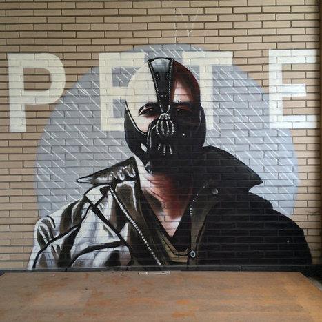Impressive Batman Graffiti Found In Abandoned Building | Geekologie #RuinPorn | Photoshopography | Scoop.it