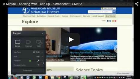 Our Newest 3 Minute Tech Tool Tutorial: Screencast-O-Matic | Onderwijs en digitalisering | Scoop.it