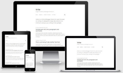 BTemplates: Write Blogger theme | Blogger themes | Scoop.it
