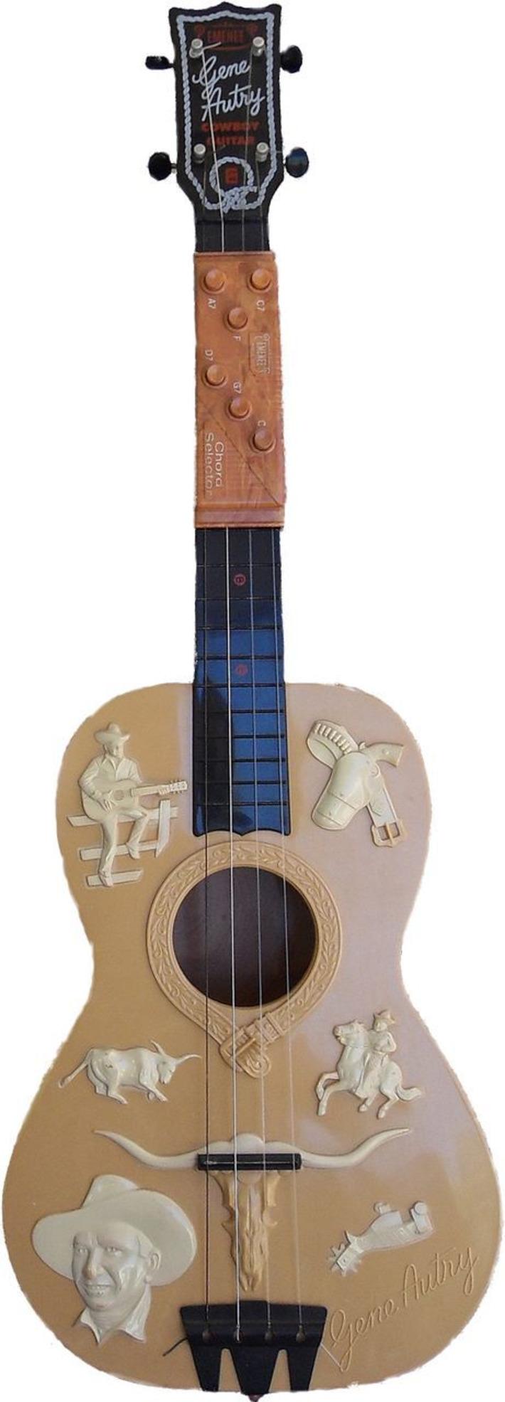 1955 Emenee Gene Autry Cowboy Guitar w/Chord Player | Antiques & Vintage Collectibles | Scoop.it