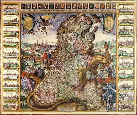 Herald Dick Magazine: Cartes géographiques anciennes avec armoiries : Leo belgicus et Leo hollandicus | GenealoNet | Scoop.it