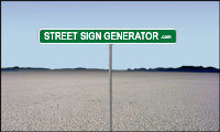 Street Sign Generator | Graphics Generation Tools - handy sites to create more compelling graphics | Scoop.it