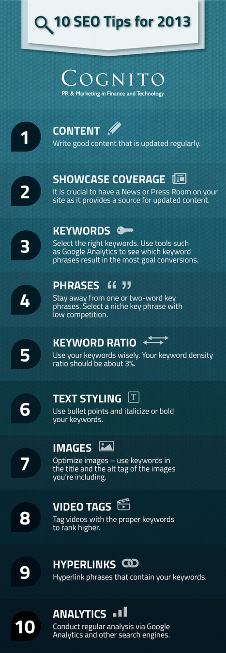 10 SEO Tips for 2013 | Way Cool Tools | Scoop.it