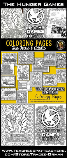 Hunger Games Lessons: Hunger Games Coloring Book Pages for Teens and Adults | Hunger Games Teaching Resources | Scoop.it