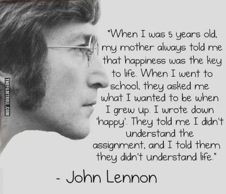 A wise quote from John Lennon - The Filmtroll   catnipoflife   Scoop.it