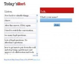 TodaysMeet. Un espace collaboratif pour votre audience. | Les outils du Web 2.0 | Scoop.it