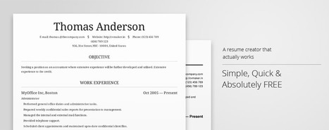 Create professional resumes online for free - CV creator - CV Maker | Cool Online Tools for Surveyors | Scoop.it