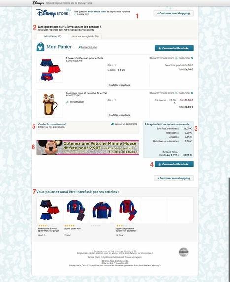Optimisation du tunnel de commande : l'excellent exemple du Disney Store – ★ Stratégie, Gestion & Optimisation E-commerce / SKEELBOX Paris | Etudes de cas E-marketing | Scoop.it