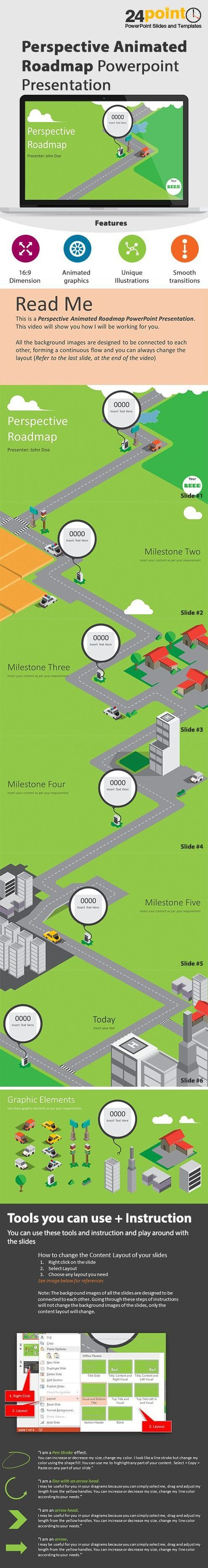 Animated Perspective Roadmap Powerpoint Template   PowerPoint Presentation Tools and Resources   Scoop.it