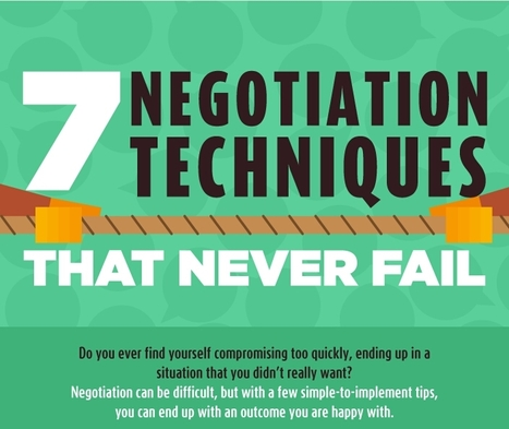 7 Negotiation Techniques that Never Fail | Daily Infographic | World's Best Infographics | Scoop.it