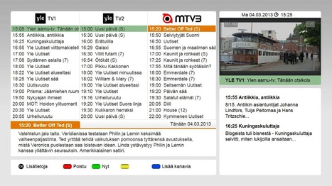 Finnish HbbTV launch enables new services for TV channels | HbbTV | Scoop.it