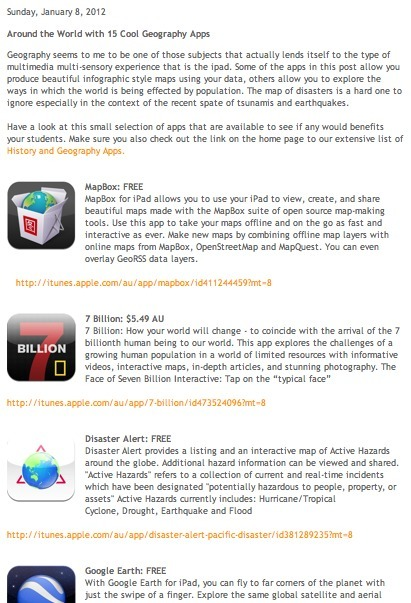 Apps in Education: Around the World with 15 Cool Geography Apps   iPad Recommended Educational App Lists   Scoop.it