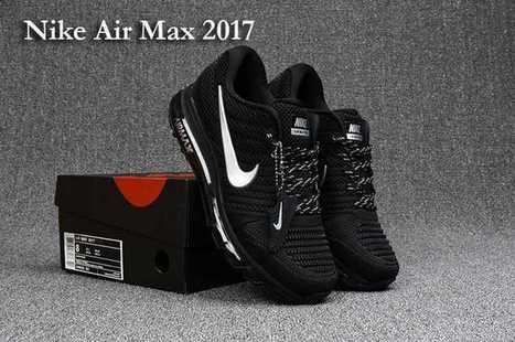 half off 7c589 9f8af Nike Air Max 2017 Run Shoes Top Black White For Men