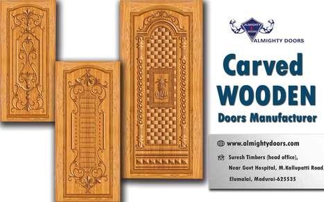 Carved Wooden Doors | Wood Carved Main Doors | Carved Solid Wood Doors  sc 1 st  Scoop.it & Wooden Flush Doors Manufacturers in Tamilnadu |...