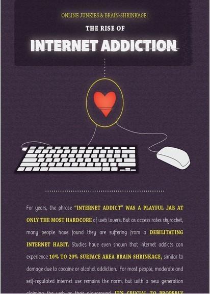 Internet Addiction Infographic Raises Awareness | 1-MegaAulas - Ferramentas Educativas WEB 2.0 | Scoop.it