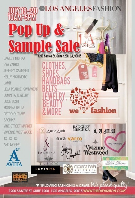 The LA Fashion PopUp and Sample Sale Event - July 19th,20th 2014 | Best of the Los Angeles Fashion | Scoop.it