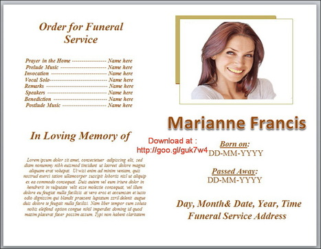 Editable Free Funeral Program Template In Ms Wo