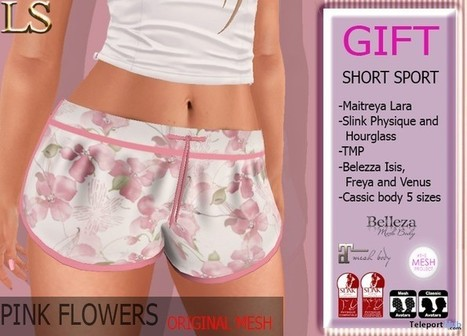 Sport Shorts 1L Promo Gift by LS | Teleport Hub - Second Life Freebies | Second Life Freebies | Scoop.it