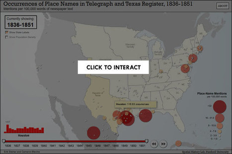 Spatial History Project I #dataviz #cartographie | e-Xploration | Scoop.it