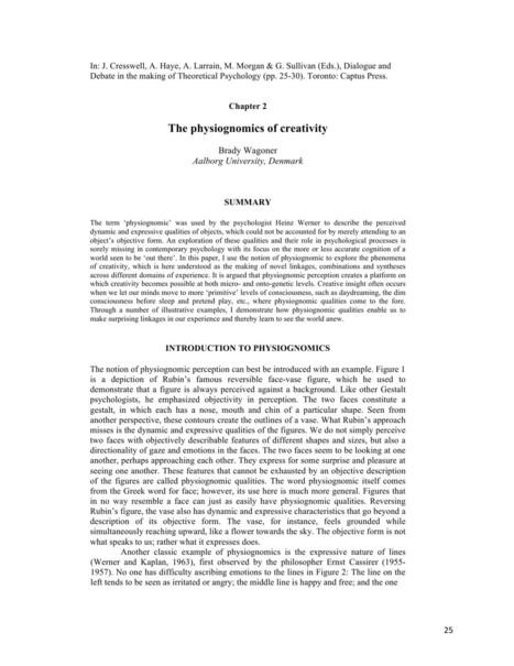The Physiognomics of Creativity | Creativity - Problem Solving | Scoop.it
