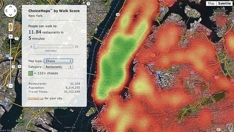 ChoiceMaps: A New Way to Measure Neighborhoods - Walk Score Blog | informational landscapes | Scoop.it