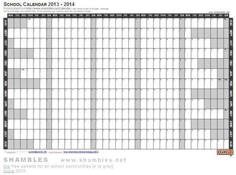 2013 2014 Academic Calendar Word Template W