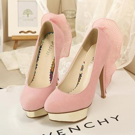 Wholesale Personalized women's pumps in classical suede CZ-3004 pink - Lovely Fashion | fashion chic styles(peep toe,pumps) | Scoop.it