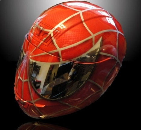 Spider-Man Motorcycle Helmet: with Great Power Comes Great Responsibility for Safety   All Geeks   Scoop.it