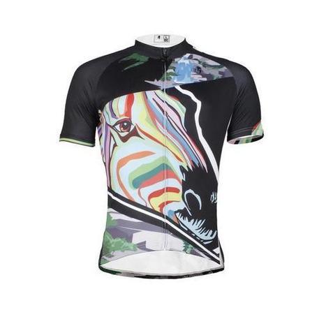 Ilpaladino Multicoloured Zebra Head Breathable Cycling Jersey Men s Sh – 92a3ba96b