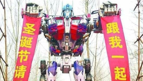 Man in China Builds Giant Transformers Replica to Propose to Girlfriend | Radio Show Contents | Scoop.it