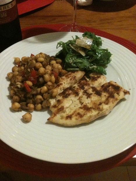 Peito de frango grelhado com salada de grão à Marroquina #daCozinha | Foodies | Scoop.it