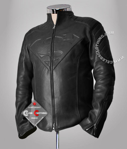 Superman Leather Jacket | Smallville Black Jacket | Superman Man of Steel Costume | Scoop.it