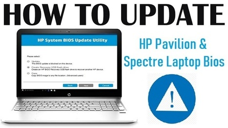 Steps to Update HP Pavilion & Spectre Lapto