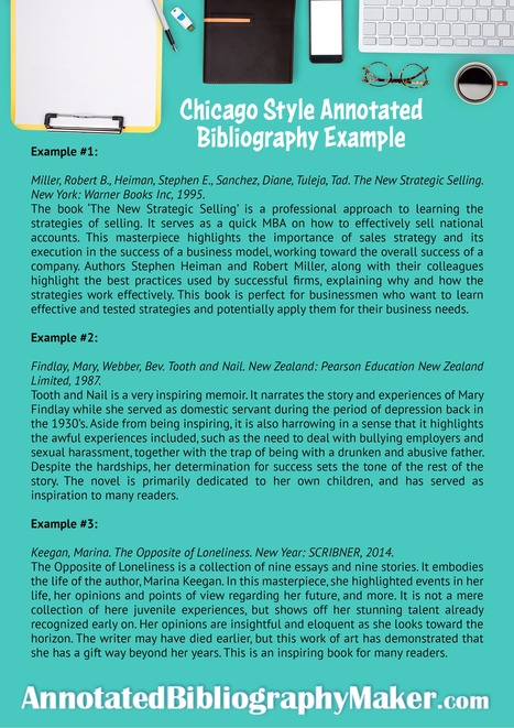 annotated bibliography example chicago