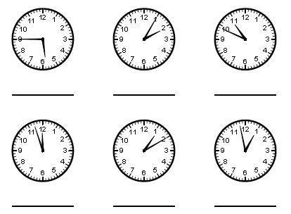 the math worksheet telling time a. Black Bedroom Furniture Sets. Home Design Ideas