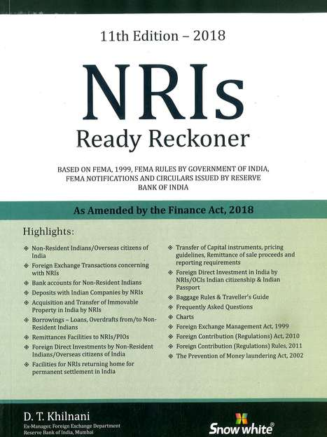 Snow White NRIs Ready Reckoner By DT Khilnani 9789350392942