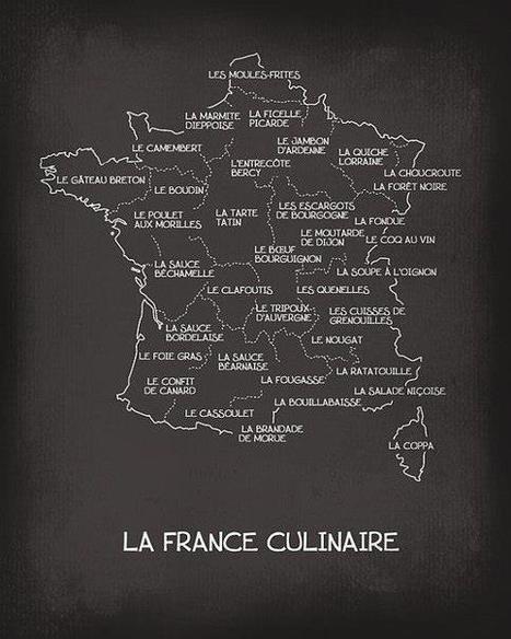 Image utile : carte de la France culinaire | TICE & FLE | Scoop.it