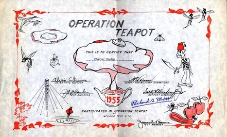 "A Cheerful ""Diploma"" for Participants in A-Bomb Testing 