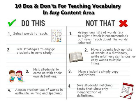 10 Dos & Don'ts For Teaching Vocabulary In Any Content Area | Blog Blasts | Scoop.it