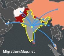 MigrationsMap: waar komen ze vandaan en waar naar toe? Interactief.. | aardrijkskunde | Scoop.it