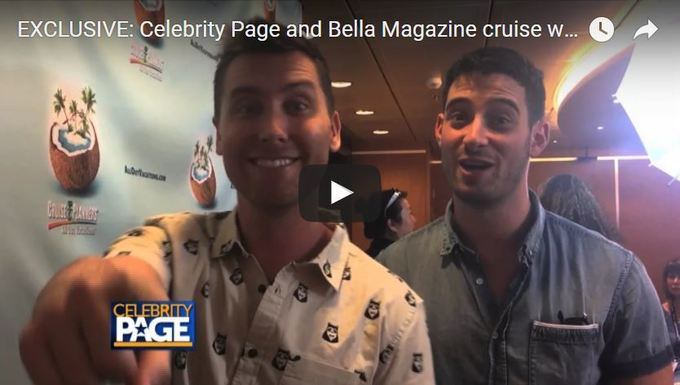 Dinner with Lance Bass on Halloween at Sea Cruise